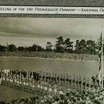 Kardinia Park 1951 unveiling the premiership flag